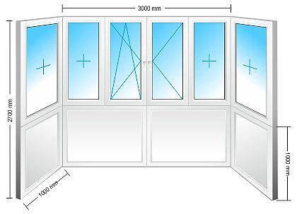 Балкон металлопластиковый-Элит