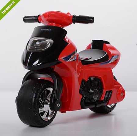 Детская толокар-мотоцикл  Bambi 617-3 красный  ***