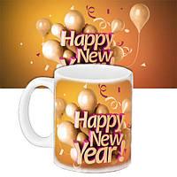 Кружка подарок с принтом Новый год 656579449