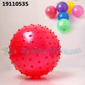 Мяч 19110535 (600шт/2) с шипами,резиновый 14см 32гр 30 шт.