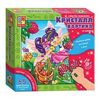 Детский развивающий набор для рисования Кристалл картина (Фея) VT4010-04 (рус)
