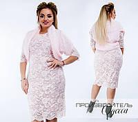 Оригинальное платье+ балеро. Больших размеров (2 цвета)