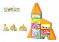 Кубики деревянные  Конструктор казкове місто LKM-4