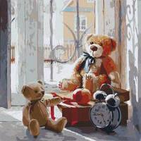 """Картина по номерам дети """"Игрушки детства"""" 40 * 40см, КНО2310"""