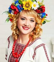Объемный украинский веночек для волос