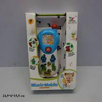 Детский игрушечный Телефон мобильный 5815 батарейки музыка свет