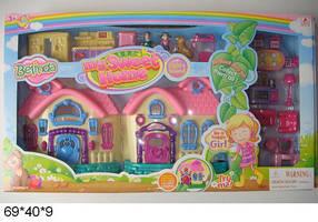 Кукольный дом 16639C с мебелью батар.муз.свет.кор.70*8,5*40 ш.к./6/