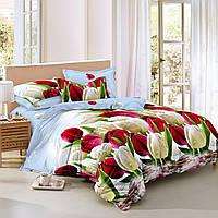 Семейный комплект постельного белья сатин (9221) TM KRISPOL Украина