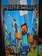 Полотенце велюр/махра пляжное Minecraft 140х70 см.