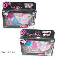 "Косметика ""Monster High"" 4 вида,лаки, кисточки,тени в кор.20*16,5*2,5см /312-2/"