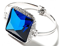 "Браслет ""Алудра"" с кристаллами Swarovski, покрытый родием (b833f440)"