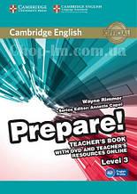 Cambridge English Prepare! 3 Teacher's Book with DVD and Teacher's Resources Online / Книга для учителя