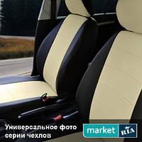 Чехлы на сиденья Nissan Almera из Экокожи (Союз АВТО), полный комплект (5 мест)