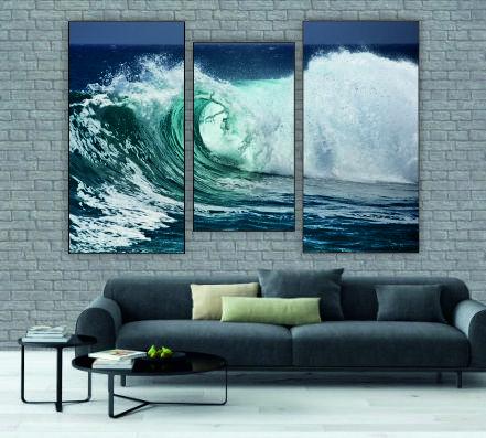 """Модульна картина"""" Бушуючі хвилі"""""""