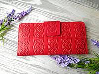 Кошелек женский красный кельтский узел