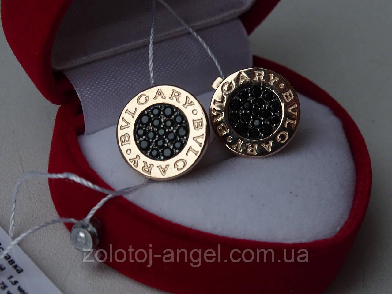 e4bdbbca53e5 Стильные золотые серьги BVLGARY (Булгари), цена 5 897 грн., купить в ...