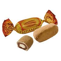 Шоколадные карамельные конфеты Тирамису Рот Фронт с начинкой