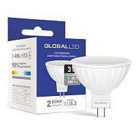 Светодиодная лампа Global GU5.3 3W 220V (1-GBL-111 ; 1-GBL-112)