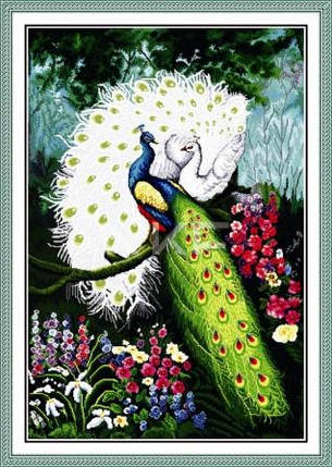 """Набор для вышивания   """"Величавые павлины"""", фото 2"""