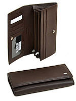 Женский кожаный кошелек Classik W501 coffee