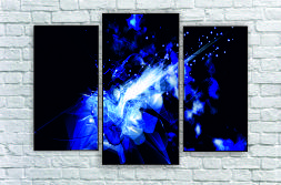 """Модульна картина"""" Блакитне диво"""""""