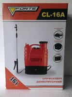 ОПРЫСКИВАТЕЛЬ аккумуляторный (обприскувач) FORTE CL-16л, 8АН/12V, вес 6,5кг