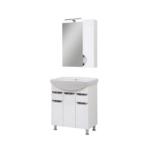 Мини-комплект мебели для ванной комнаты Оскар70 с зеркалом Юввис, фото 2