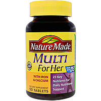 Витамины для женщин 50+ Nature Made Multi+D3