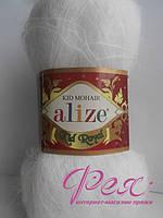 Пряжа для вязания Ализе Кид Мохер .