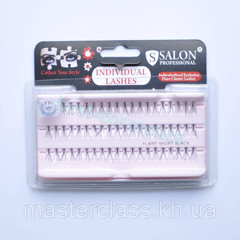 Ресницы Salon Professional пучковые S