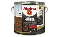 Алкидный мебельный лак ALPINA MÖBEL SM (шелковисто-матовый) 0,75 л