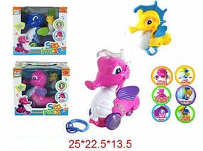 """Муз. игрушка """"Морской конек"""", 3 вида, батар., свет, звук, в кор. 25х22х13 /24-2/"""