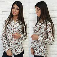 Модная  женская рубашка принт