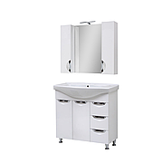 Мини-комплект мебели для ванной комнаты Оскар 85 Т-17 с зеркалом Юввис
