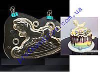 Поликарбонатная форма для шоколада Лошадка-качалка 3D