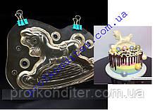 Полікарбонатна форма для шоколаду Конячка-гойдалка 3D