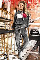 Спортивный велюровый женский костюм, размеры от 42 до 54, фото 1