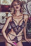Эротическое боди-стринг УВЕЛИЧЕННЫЙ РАЗМЕР с вышивкой и вырезами Helike, фото 3