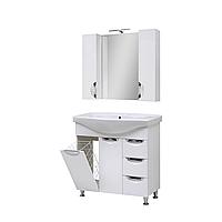 Мини-комплект мебели для ванной комнаты Оскар 85 Т-17К с зеркалом Юввис