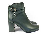 Кожаные зеленые ботинки на каблуке Fabio Monelli, фото 1