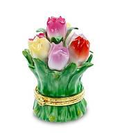Фарфоровая шкатулка Тюльпаны (Pavone) CMS - 33/24