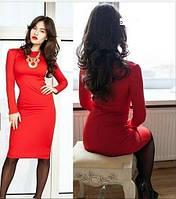 Классическое женское платье midi