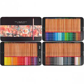 """Олівці кольорові 100 квітів """"MARCO"""" Renoir Fine Art в металевій коробці 3100-100TN"""