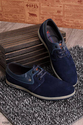 Туфли на шнуровке в синем цвете! в наличии! новые! 40-44 р!, фото 2