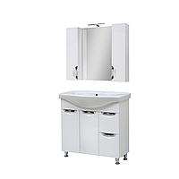Мини-комплект мебели для ванной комнаты Оскар 95 Т-19 с зеркалом Юввис