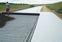 Устройство армированного ( геосетка) бетонного основания