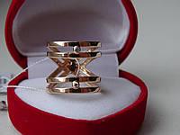 Стильное двойное золотое кольцо