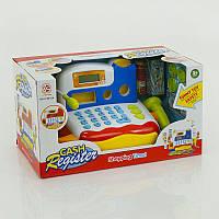 Кассовый аппарат с микрофоном, звук, свет, на батарейке, в коробке