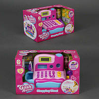 Кассовый аппарат детский с микрофоном, звук, свет, на батарейке, в коробке