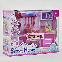 Кухня для девочки в коробке, свет, звук. Детская кухня